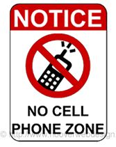 No Cell Phone Zone printable sign