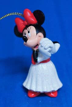 Minnie Mouse Happiest Celebration Storybook Ornament Figurine Disney World #DisneyParksExclusive #ChristmasOrnament