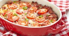 Recette de Gratin de blé aux tomates et aux saucisses. Facile et rapide à réaliser, goûteuse et diététique. Ingrédients, préparation et recettes associées.