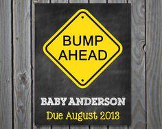 Printable Pregnancy Announcement Photo prop by ChalkingItUpBoards, $5.00