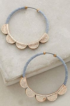 Accessories Earrings Scalloped Hoops