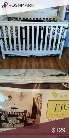 9 pc crib Bedding set Gorgeous damask print crib bedding set. Jo Jo Designs Accessories Bags