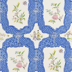 Aesthetic Oiseau: Chinoiserie Wallpaper by Sherle Wagner