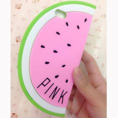 Victoria's Secret PINK Watermelon Silicone iPhone 6 Case Pink