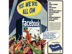 レトロなFacebookの広告。