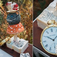 Alice in Wonderland cake I made for a shoot in collaboration with Jenna Clifford jewelry in Jenna Clifford, Mushroom Cake, Off With Their Heads, Teacup, Alice In Wonderland, Collaboration, Cake Decorating, 3d, Rose