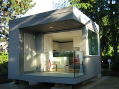 modern tiny home. This 250 sq ft studio was designed by architect Michael Katz. Exhibited at the 2010 Winter Olympics in Vancouver