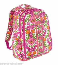 Vera Bradley Backpack Baby Diaper Bag Lilli Bell Changing Pad Pink Orange