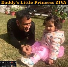 MS Dhoni with his daughter Ziva in Dehradun For more cricket fun click: http://ift.tt/2gY9BIZ - http://ift.tt/1ZZ3e4d