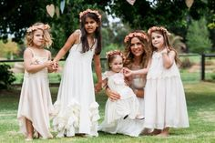 I love the idea of multiple flower girls in different dresses!