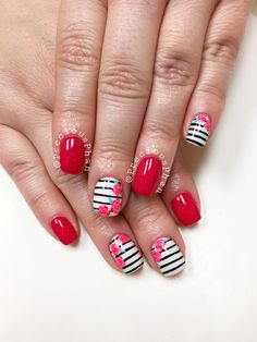 you should stay updated with latest nail art designs, nail colors, acrylic nails… – Long Nails – Long Nail Art Designs Different Nail Designs, New Nail Designs, Short Nail Designs, Nail Designs Spring, Beautiful Nail Designs, Striped Nails, White Nails, Coral Nails, Do It Yourself Nails