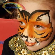 Tiger Face paint  Schminkkoppies Marielle Heuft
