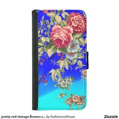 pretty red vintage flowers case