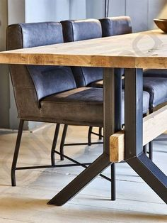 Here are the And Unique Industrial Table Design Ideas. This article about And Unique Industrial Table Design Ideas was posted … Dinning Table Design, Dinning Room Tables, Dining Table Legs, Patio Table, Table And Chairs, Wood Table Design, Steel Dining Table, Slab Table, Wood Patio