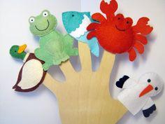 Filc ujjbáb csomag -Élet a tóban Felt Finger Puppets, Hand Puppets, Finger Hands, Traditional Toys, Imaginative Play, Felt Crafts, Kids Toys, Dinosaur Stuffed Animal, Cricut