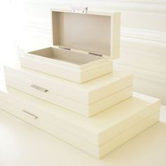 Palazzina -- stacking jewelry boxes...for if I ever own any jewelry nice enough for special storage boxes.