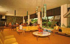 Guest  lobby/lounge at Kauai Surf Hotel, HI (1960s)