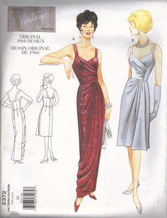 1960's Repro Vintage Vogue Pattern Gathered by GlamourPussParadise, $15.00