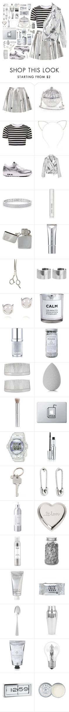 """""""Who's It Gonna Be- BGA"""" by kwonrena ❤ liked on Polyvore featuring Finders Keepers, Judith Leiber, Topshop, Forever 21, NIKE, Moschino, Anne Sisteron, Bobbi Brown Cosmetics, New CID Cosmetics and Sally Hansen"""