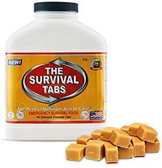 Survival Food for Kayaking Survival Tabs 15-day Food Supply 180 Tabs Emergency Food Ration MREs Food Replacement Gluten Free and Non-GMO 25 Years Shelf Life Long Term Food Storage - Butterscotch - - Amazon.com