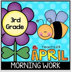 April 3rd Morning Work  Topics include:butterflies, Arbor Day, honeybees, tornadoes, weather, Earth Day, poetry, Patriot's Day, American Revolutionary War, Paul Revere, secretary, baseball, weather, rain, plants, garden, spring, weather, insects, bugs, ladybugs, chicken, life cycle.  paid