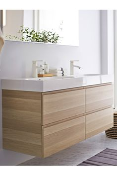 IKEA Fan Favorite: GODMORGON sink cabinet. This fan fave helps make me-time any time. GODMORGON lets you stock up on your favorite pamper products and then hide anything you're not using now behind closed doors and drawers.
