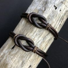 Celtic Knot Couples Bracelets Gold Accents His and Hers Bracelet Couple, Couple Jewelry, Leather Jewelry, Leather Cord, Brown Leather, Love Bracelets, Beaded Bracelets, Royal Jewelry, Men's Jewelry
