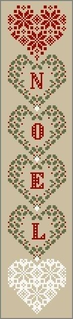 Noel Christmas Cross Stitch