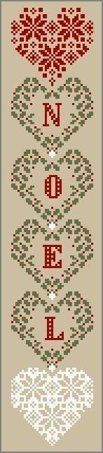 Noel Christmas Cross Stitch
