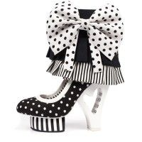 Irregular Choice 'Rosie', black, white, statment heel