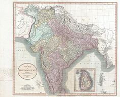 Post with 0 votes and 1664 views. 1806 Cary Map of India or Hindoostan × Vintage Wall Art, Vintage Walls, Farewell Gifts, India Map, History Of India, Old Maps, Sri Lanka, 18th Century, Vintage World Maps