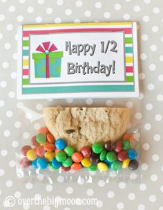 Half Birthday Gift with Free Printable Bag Topper - perfect for children with summer birthdays