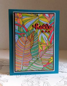 Paper Seedlings: COLORING CRAZE TROPICAL HELLO