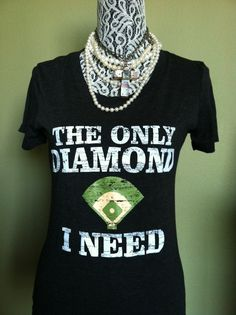 The Only Diamond I Need vintage screened baseball by BaseballAlley, $21.00