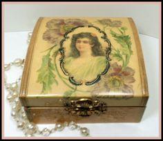 Victorian Era Celluloid Vanity Dresser Box