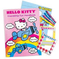 Hello Kitty Friendship Fun Handbook - Keep the girls busy for hours! Includes games, quizzes and press-outs, as well as 2 pages of stickers, a fold-out calendar and so much more! 34 pages of fun! Hello Kitty is officially licensed by Sanrio Co. Ltd.
