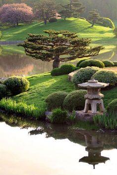 Chicago Botanic Garden's Japanese Island Garden, Chicago, IL