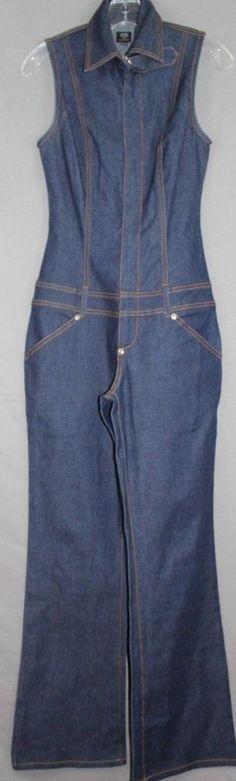 NWOT XOXO Jeans 70s Style Sleeveless Bell Bottom Pantsuit Size 3/4 #XOXOJeans #PantSets