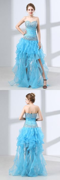 Only $99, Prom Dresses Different Long Slit Pool Prom Dress With Beading Top 2018 #CH6641 at #GemGrace. View more special Special Occasion Dresses,Prom Dresses now? GemGrace is a solution for those who want to buy delicate gowns with affordable prices, a solution for those who have unique ideas about their gowns. 2018 new arrived, shop now!