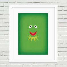 Kermit as interpreted by RetroInc in this affordable printable poster