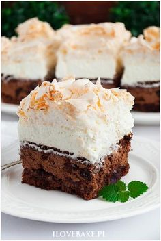 Best Dessert Recipes, No Bake Desserts, Cake Recipes, Polish Desserts, Polish Recipes, Food Cakes, Fat Foods, Sweet Cakes, Homemade Cakes