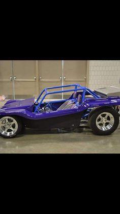 Nice paint, wheels, and chrome. Purple might be too loud for me Vw Beach, Beach Buggy, Vw Dune Buggy, Dune Buggies, Combi Wv, Replica Cars, Power Bike, Sand Rail, T Bucket