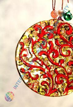 #Glass #handmade #Christmas #tree #decoration #ornament #gift #village #stocking #santa #deer #christmasiscoming #christmasstockings #Santa #fused #murano