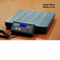 400lb Digital Shipping Postal Scale by DigiWeigh. $59.99. Features: 400-pound capacity. Measures in 0.2-pound increments. Large, high-contrast LCD display. High-quality strain-gauge load cell system ensures accuracy in full capacity range. Painted steel platform. Low profile design saves space. Includes AC/DC adaptor and 4 AA batteries.