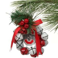 Image detail for -Ohio State Buckeyes Bell Wreath Ornament: Amazon.com: Sports ...