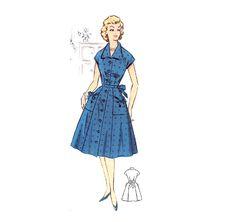 Plus Size (or any size) Vintage 1950s Dress Pattern - PDF - Pattern No 34: Christine via Etsy
