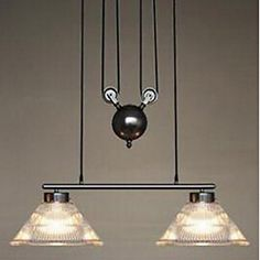 Chandelier,2 Light,Northern Europe Style Concise Sanctum Lamp Metal - CAD $ 531.99