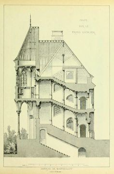 SECTION: staircase of the Château de Nantouillet