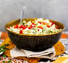 Kukkakaali on seuraava superruoka! Cauliflower Recipes, Couscous, Serving Bowls, Decorative Bowls, Salsa, Good Food, Healthy Recipes, Ethnic Recipes, Sweet