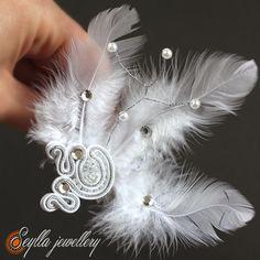 Sutasz soutache ślub wedding Seylla jewellery #soutache #wedding